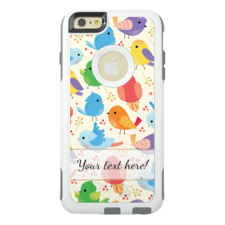 Whimsical Multicolor Birds Pattern OtterBox iPhone 6/6s Plus Case