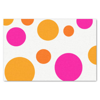 WHIMSICAL MULTICOLORED POLKA DOTS TISSUE PAPER