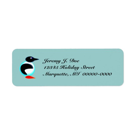 Whimsical Neon Penguin Frozen Tundra Area Labels