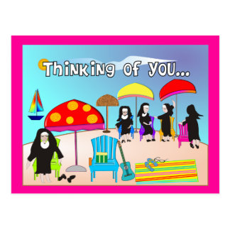 Whimsical Nun Art Gifts & Cards Postcard