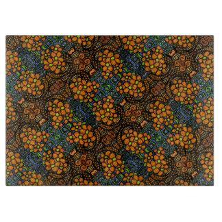 Whimsical  Orange Flowers Pattern Boards