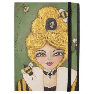 Whimsical Original Art Bee Hive Girl IPad Case