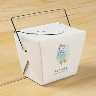 Whimsical Outer Space Favor Boxes