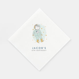 Whimsical Outer Space Personalized Napkins Paper Napkin