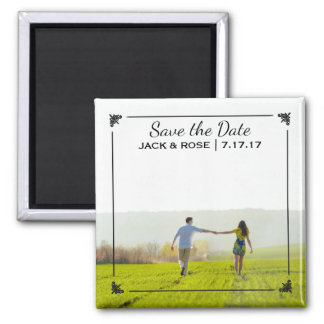 Whimsical Overlay | Custom Photo Save the Date Square Magnet