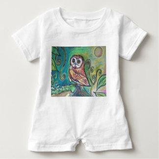 Whimsical Owl Baby Romper