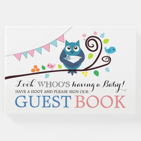 Whimsical Owl Baby Shower Guest Book