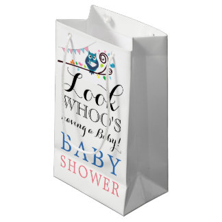 Whimsical Owl Baby Shower Small Gift Bag