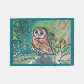 Whimsical Owl Fleece Blanket