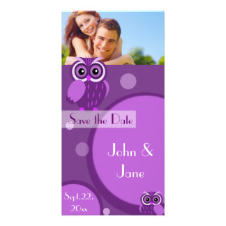 "Whimsical Owl  /photo  ""Save the Date"" Photo Cards"