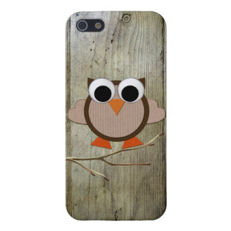 Whimsical Owl & Wood iPhone 5 Case