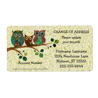 Whimsical Owls Update Vendor Records Address Label