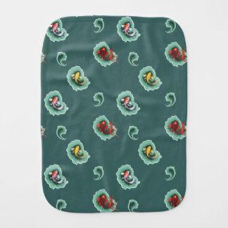 Whimsical Paisley Pattern Burp Cloth