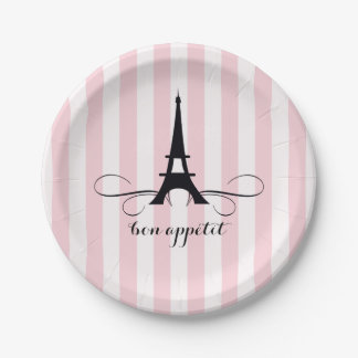 Whimsical Paris Eiffel Tower | Bridal Shower 7 Inch Paper Plate