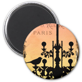 *WHiMSiCaL PaRiS MaGNeT* 2 Inch Round Magnet