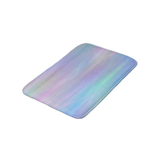 Whimsical Pastel Rainbow Fairy Mermaid Iridescent Bath Mat