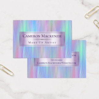 Whimsical Pastel Rainbow Trendy Iridescent Modern Business Card