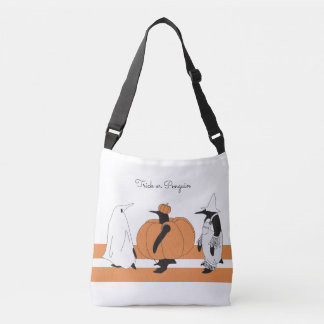 Whimsical Penguin Halloween Personalized Tote Bag