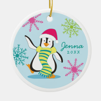Whimsical Penguin Personalized Photo Ornament