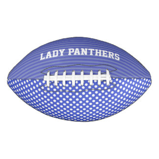 Whimsical Periwinkle Blue Custom Football