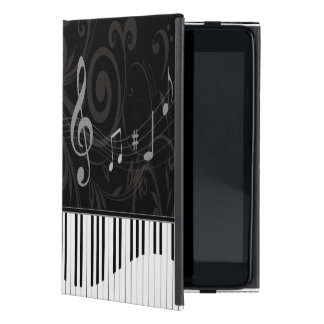 Whimsical Piano and Musical Notes Cover For iPad Mini