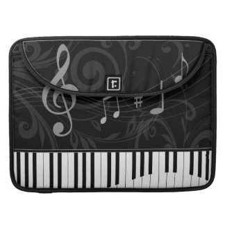 Whimsical Piano and Musical Notes Sleeve For MacBooks