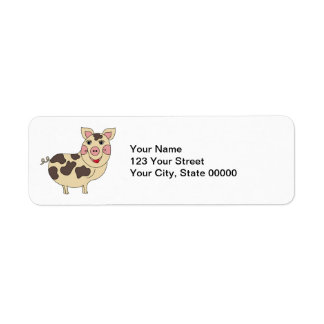 Whimsical Pig Personalized Return Address Label