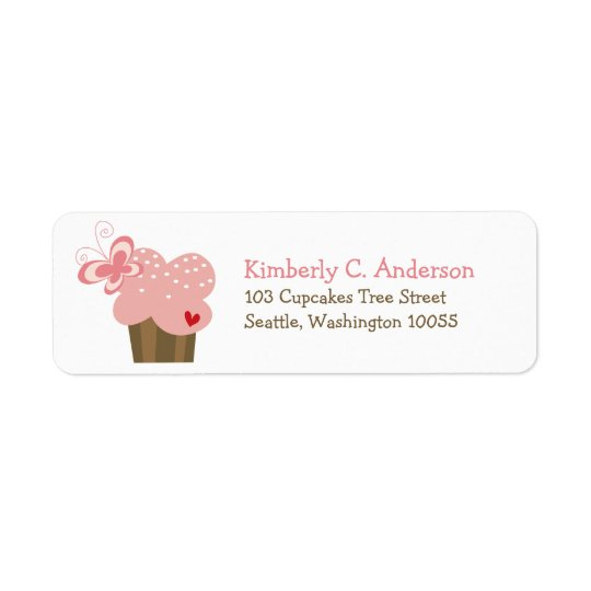 Whimsical Pink Cupcake Butterfly Girl Birthday