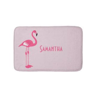 Whimsical Pink Flamingo Custom Bath Mat