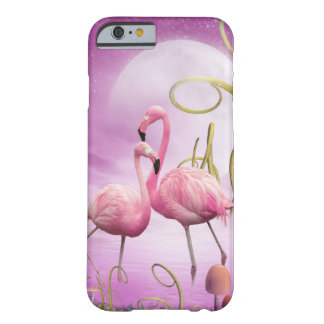 Whimsical Pink Flamingos iPhone 6 case