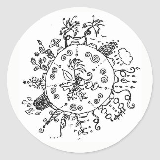 Whimsical Planet Sticker