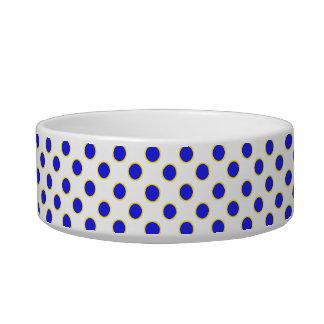 Whimsical Polka Dots Monogrammed Pet Bowl