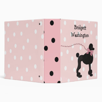 Whimsical Poodle Binder