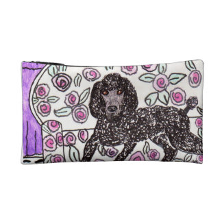 Whimsical Poodle Cosmetic Bag
