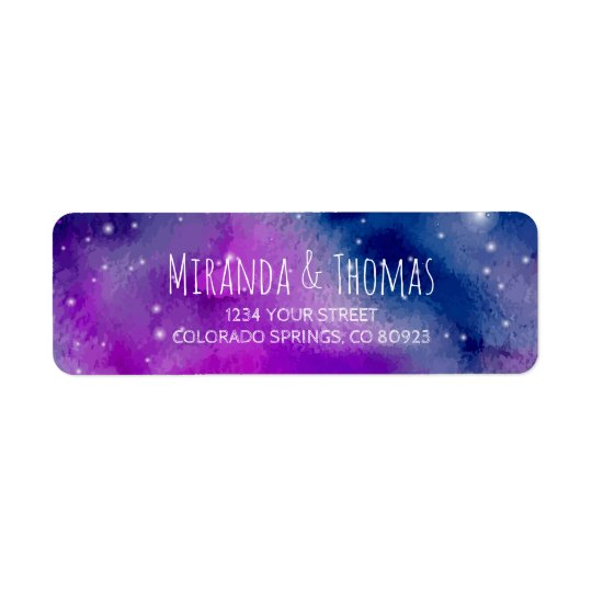 Whimsical Purple Address Labels