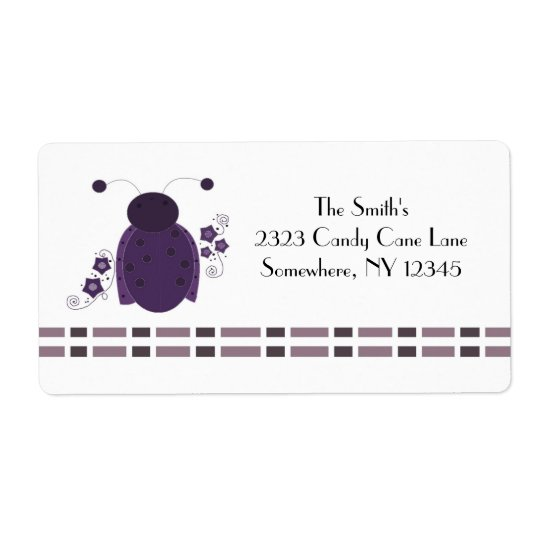 Whimsical Purple Ladybug