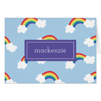 Whimsical Rainbow Personalized Thank You Notes