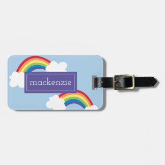 Whimsical Rainbows Personalized Luggage Tag