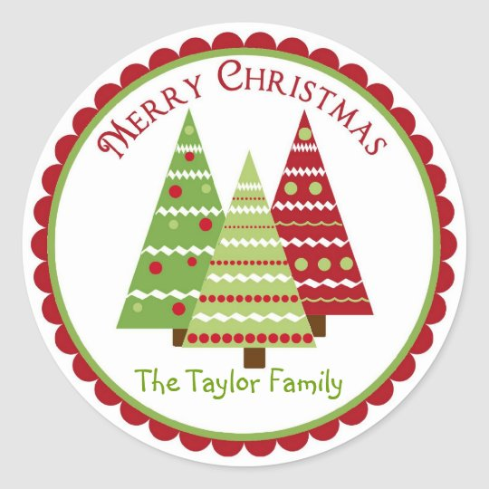 Whimsical Reindeer Christmas Holiday Stickers