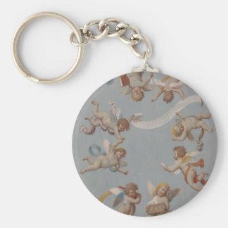 Whimsical Renaissance Cherub Angels Basic Round Button Keychain