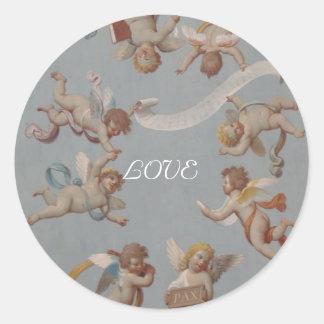 Whimsical Renaissance Cherubs Sticker