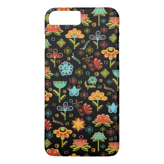 Whimsical Retro Flowers and Birds iPhone 7 Plus Case