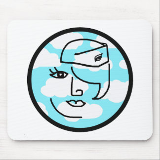 Whimsical Retro Stewardess Mouse Pad