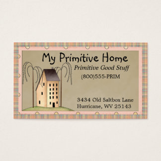 Whimsical Saltbox House Business Card