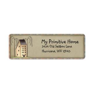 Whimsical Saltbox House Return Address Label