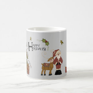 Whimsical Santa In Christmas Setting Coffee Mug