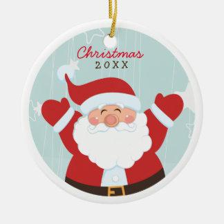 Whimsical Santa Personalized Photo Ornament
