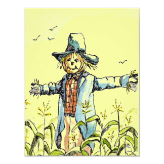 WHIMSICAL SCARECROW Corn Maze PARTY INVITATION