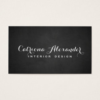 Whimsical Script Chalkboard Business Card