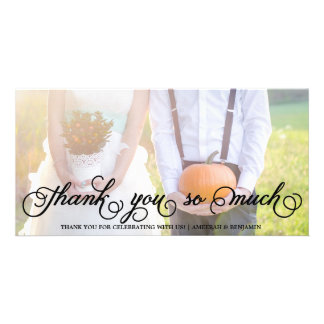 Whimsical Script | Wedding Thank You Photo Card